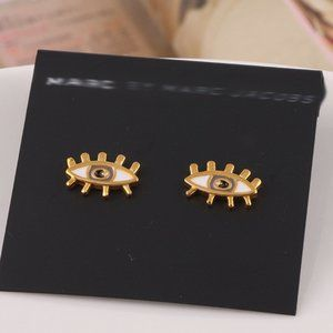 Marc Jacobs Enamel Eye Stud Earrings